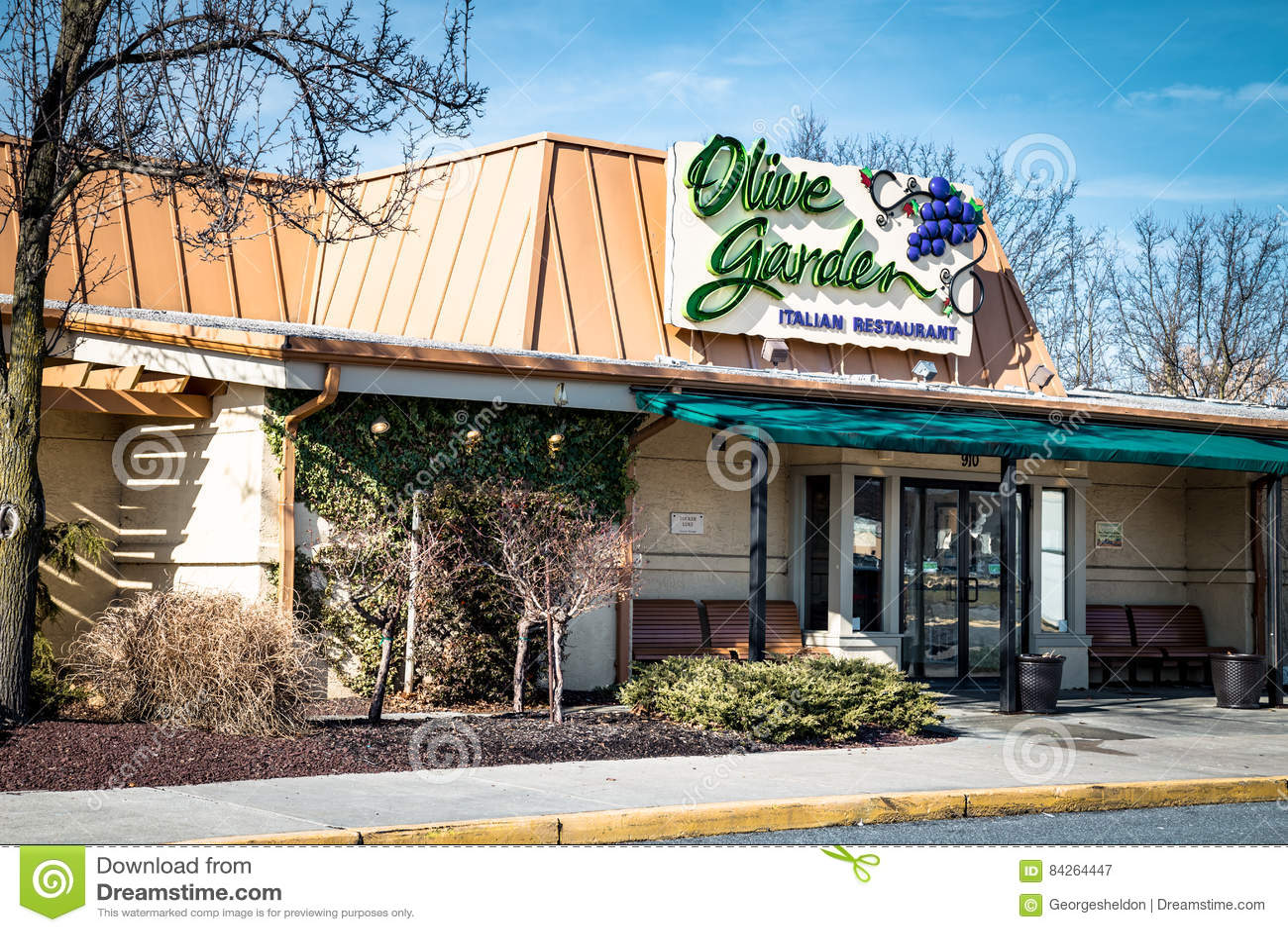 Entrata esteriore del ristorante di Olive Garden Italian Kitchen