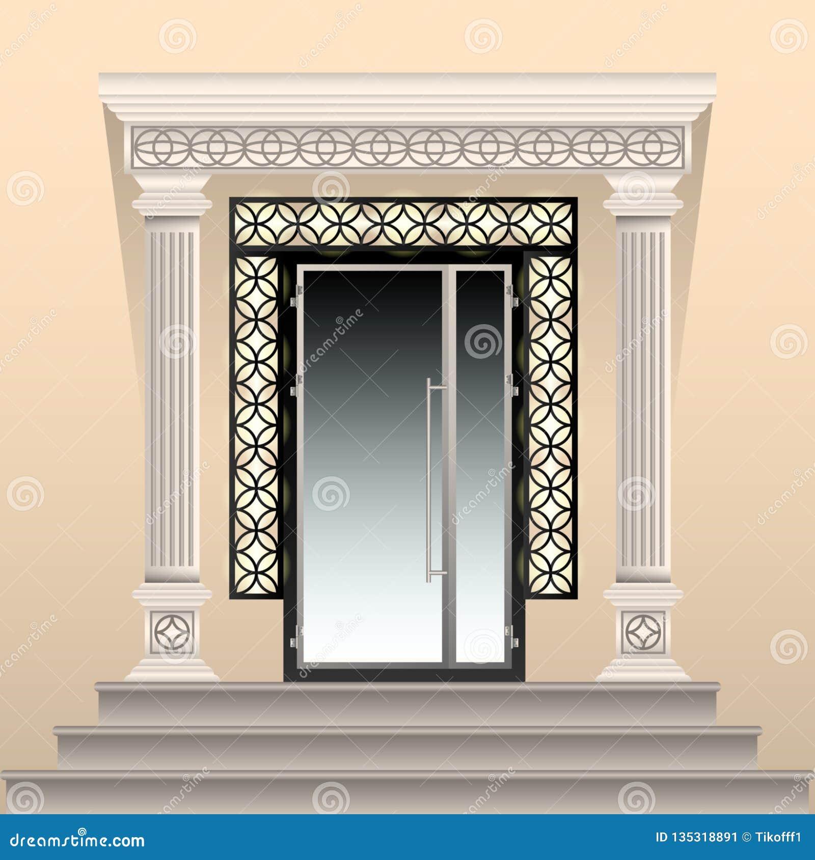 Arco Per Porta entrata meravigliosamente decorata alla costruzione porta di