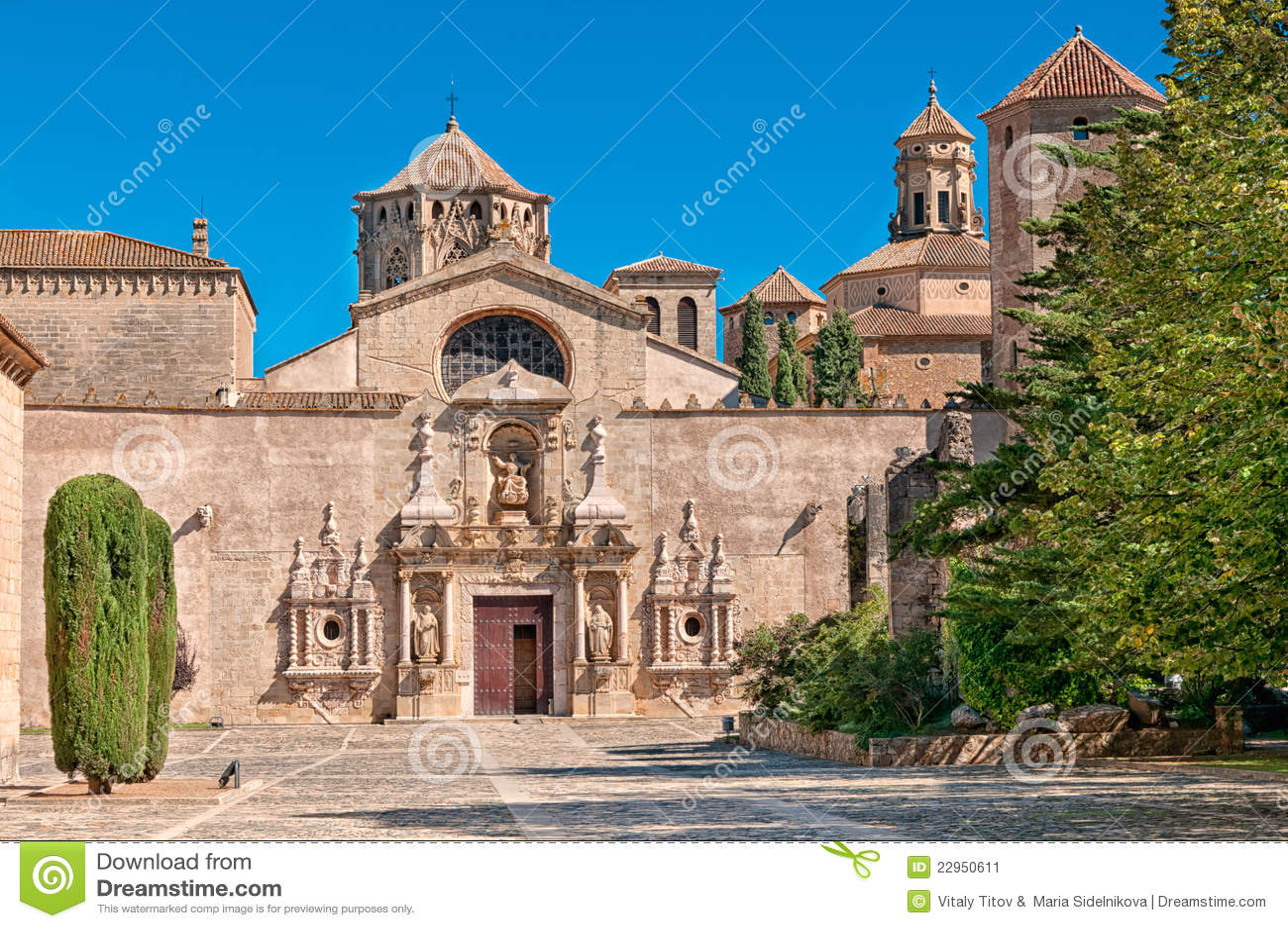Entrata, monastero di Santa Maria de Poblet, Spagna