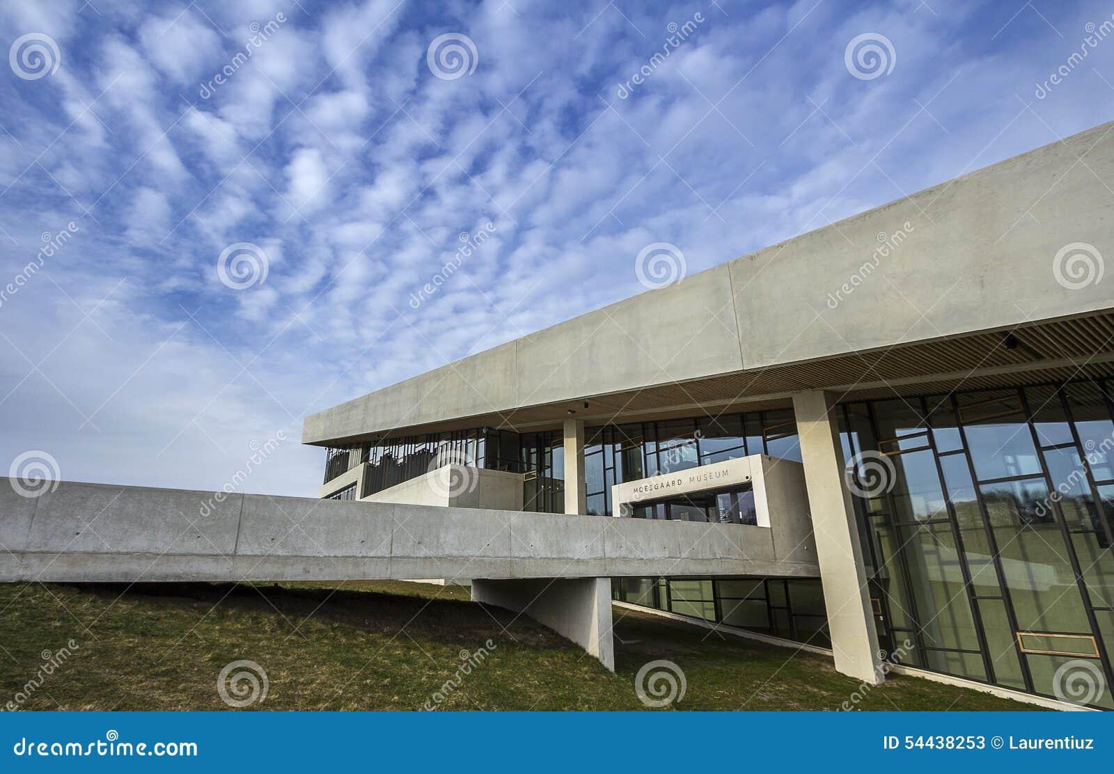Entrata principale di esterno della Danimarca Aarhus del museo di Moesgaard