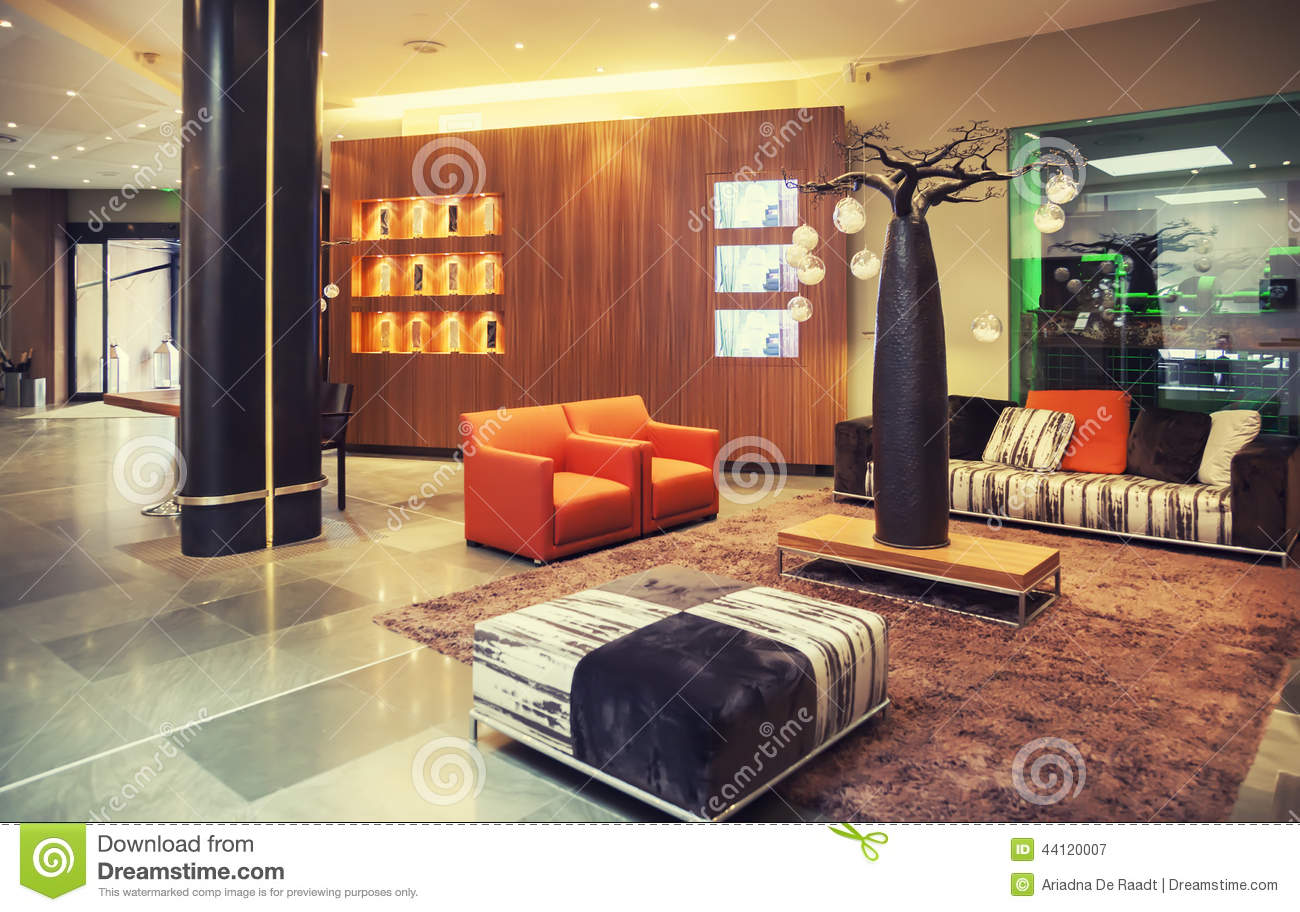 Entree Hall In Modern Hotel Stock Image - Image of detail, classic ...