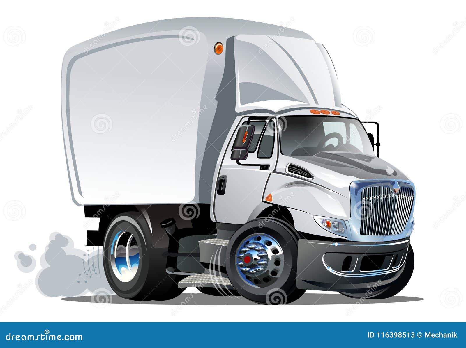 Entrega de la historieta o camión del cargo