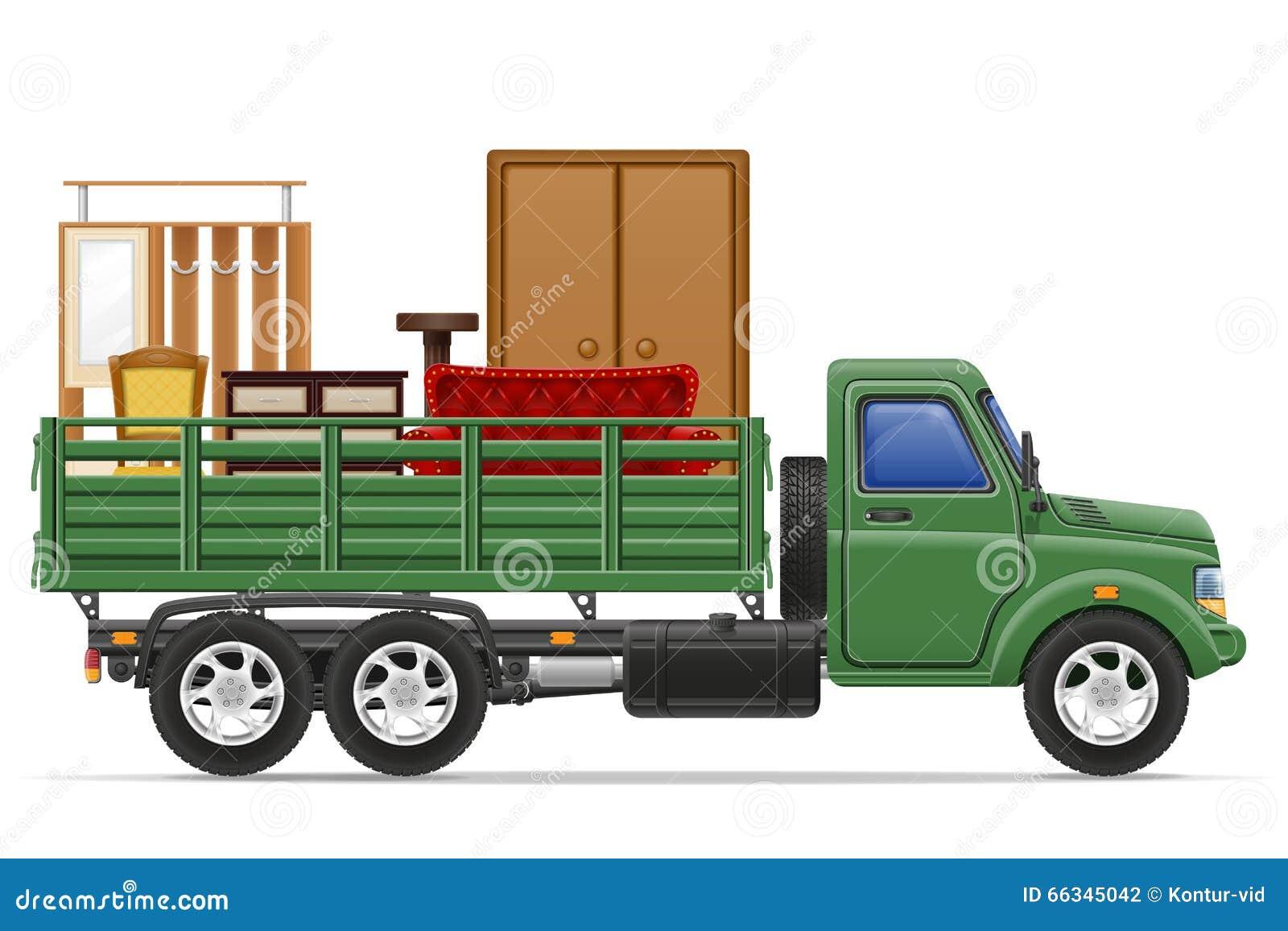 Transportes De Muebles : Entrega del camión cargo y transporte vec