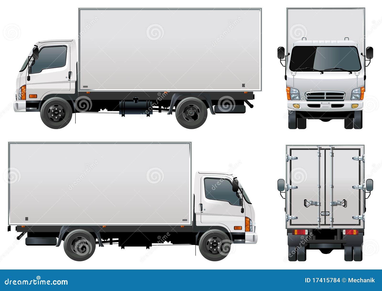 Entrega Do Vetor/caminhão Da Carga Ilustração Do Vetor