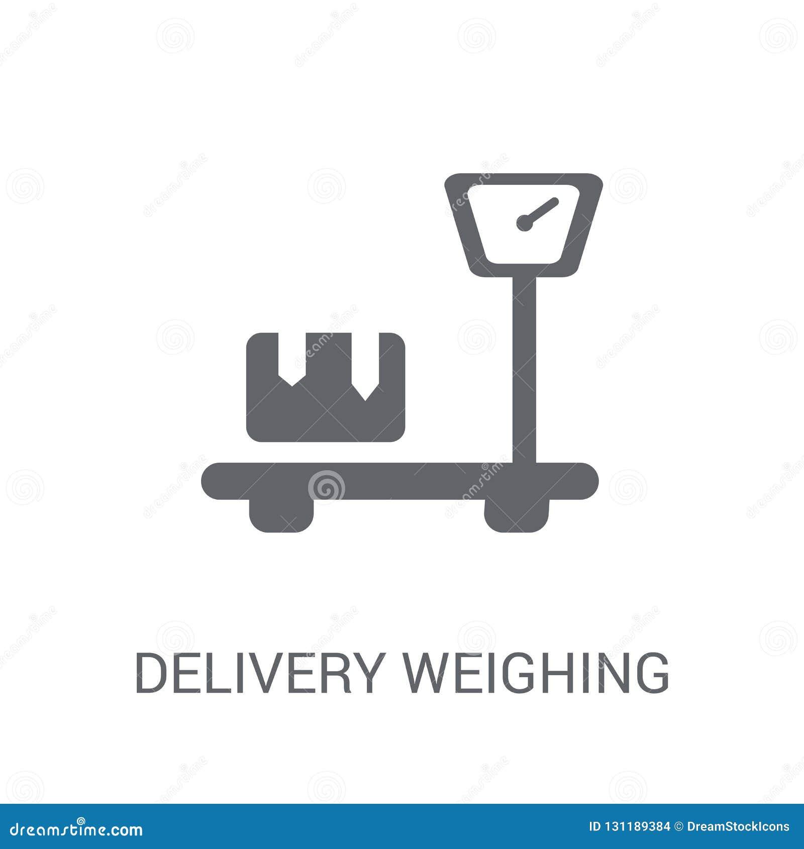 Entrega que pesa o ícone
