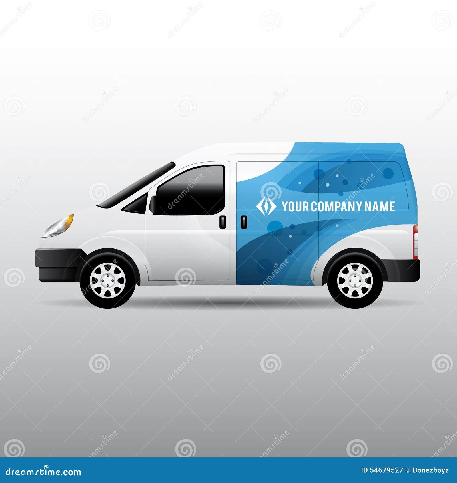 Entrega Van - anuncio y diseño de la identidad corporativa