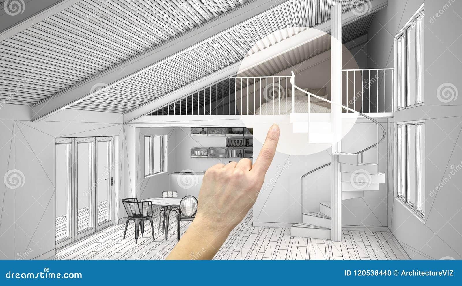 Entregue apontar o projeto de design de interiores, detalhe do projeto da casa, decidindo nas salas que fornecem ou que remodelam
