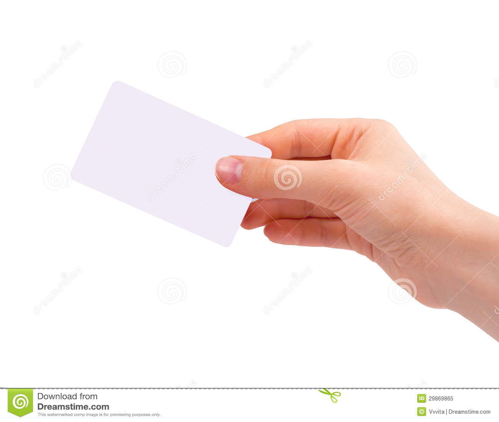 Mão que guardara o cartão de visita