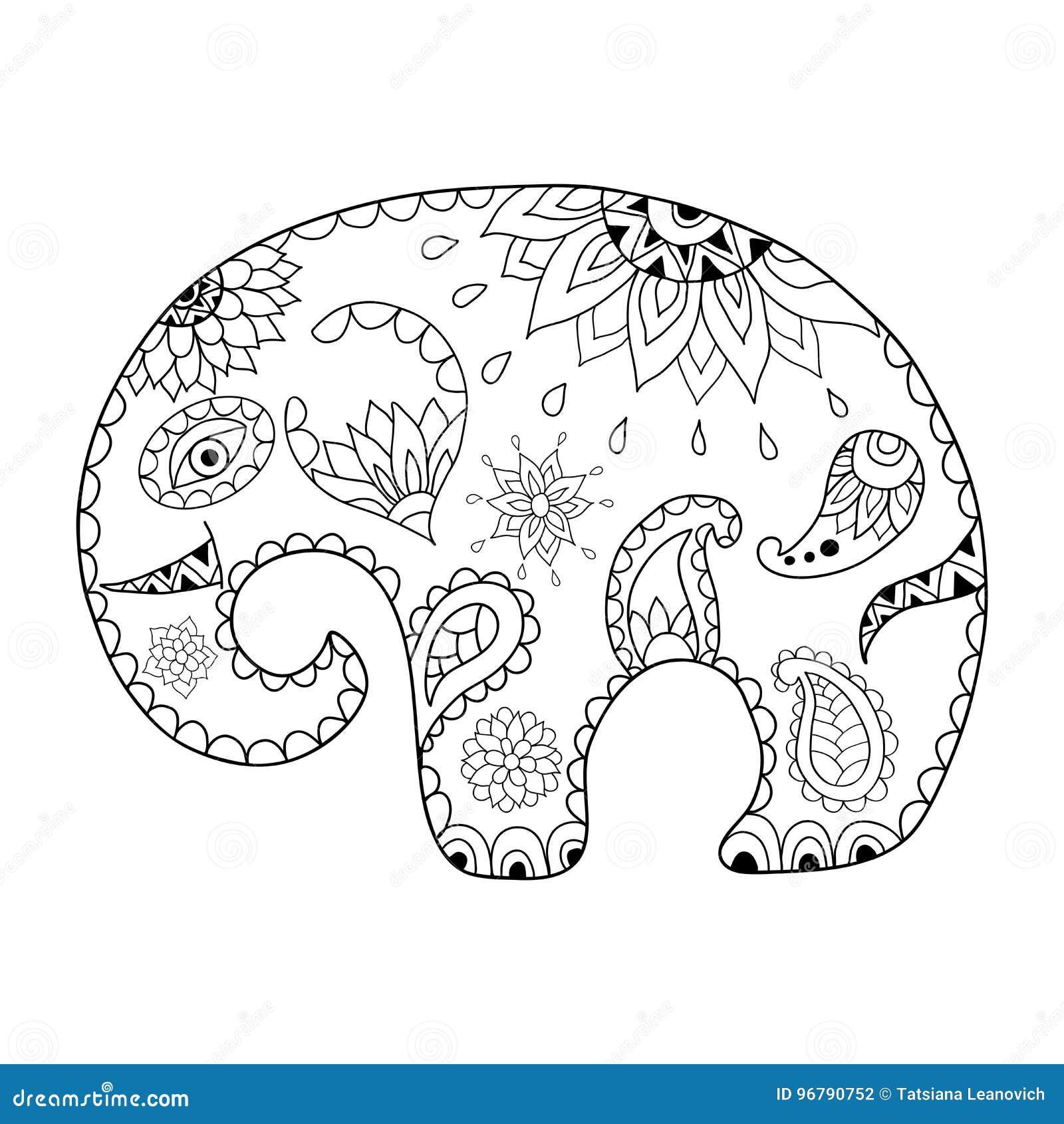 Entregue O Elefante Tirado Dos Desenhos Animados Para A Anti