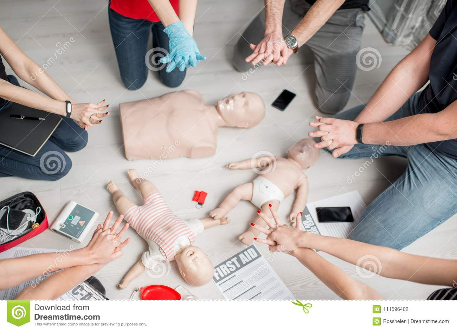 Entrenamiento de los primeros auxilios