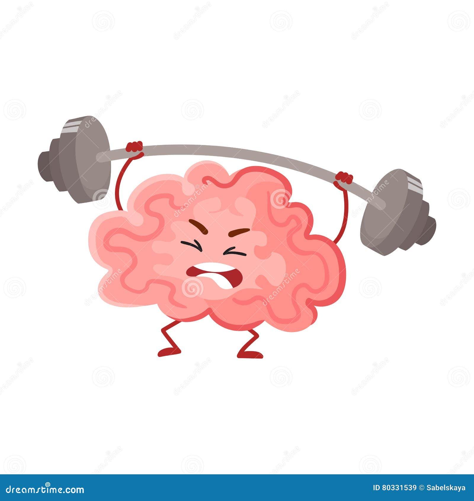 Entrenamiento divertido del cerebro de la concentración con un barbell