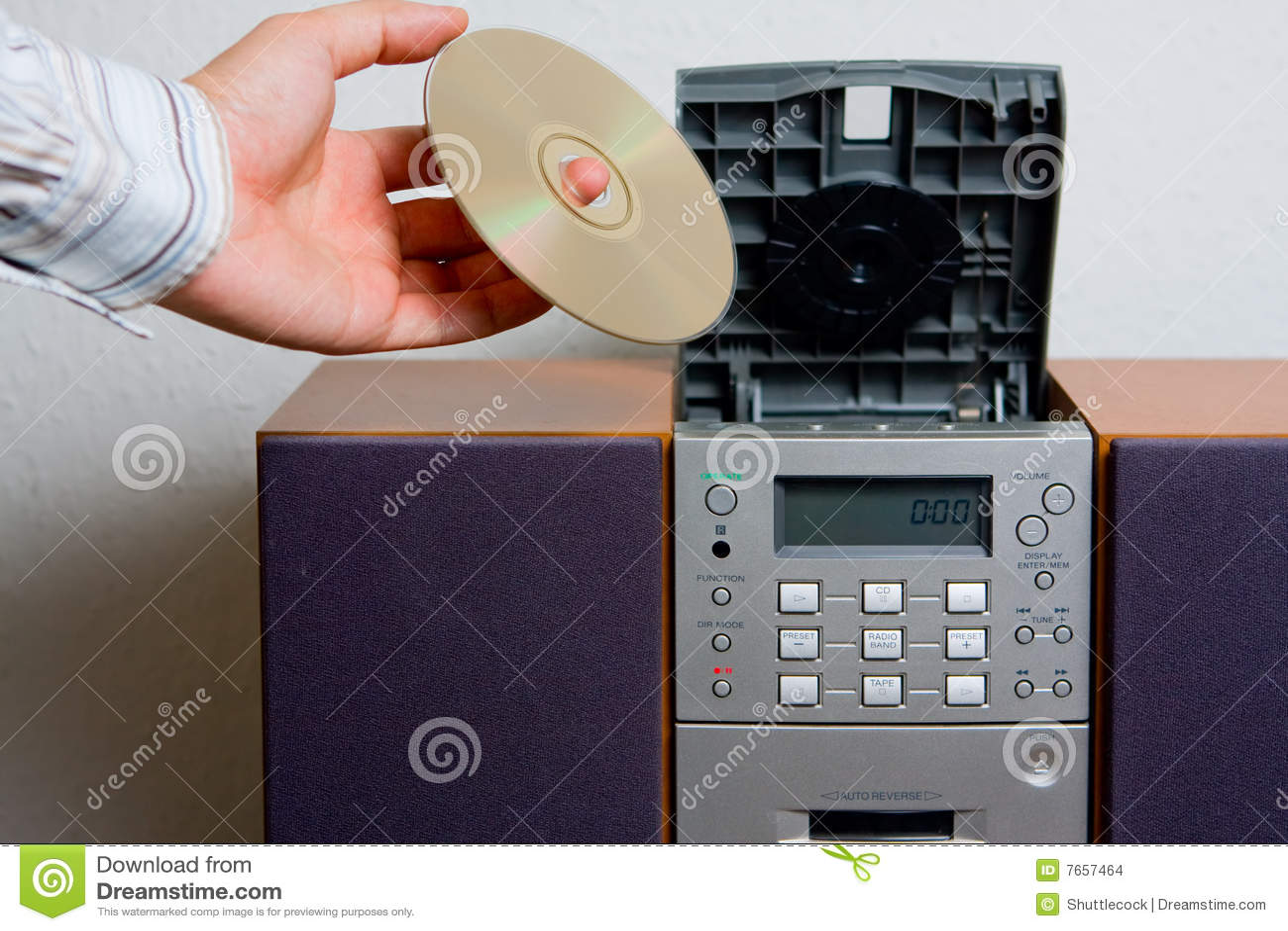 Entretenimento da música do reprodutor de CDs
