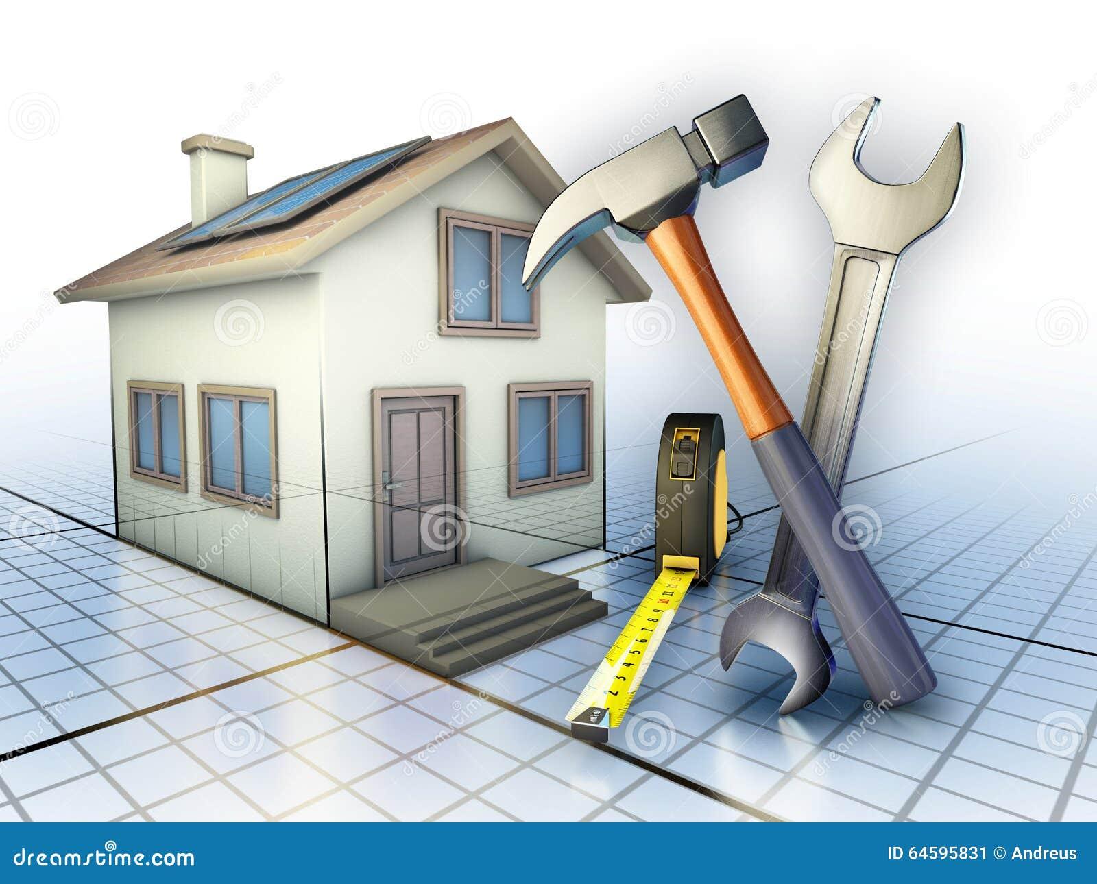 entretien la maison illustration stock image 64595831. Black Bedroom Furniture Sets. Home Design Ideas