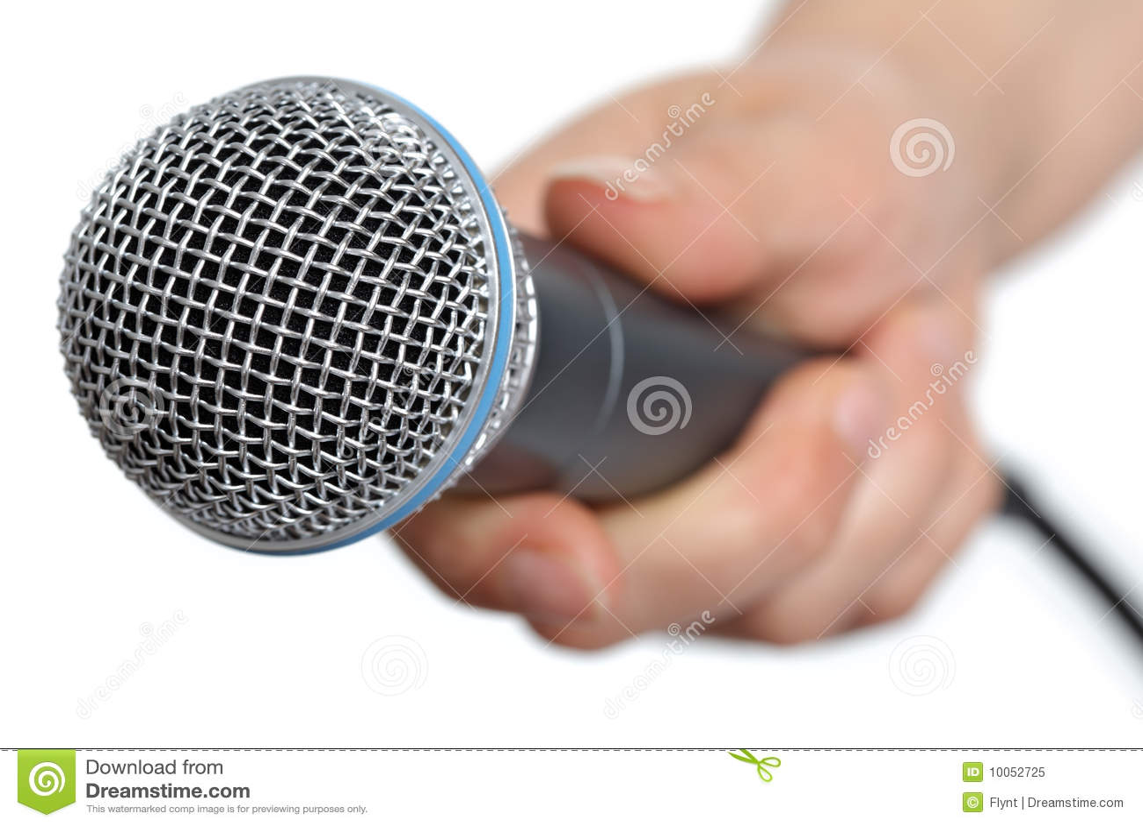 Entrevista com microfone