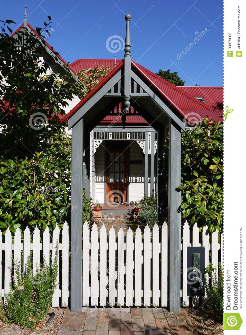 Australia: Classic Villa Home Entry Stock Photos - Image: 30075603