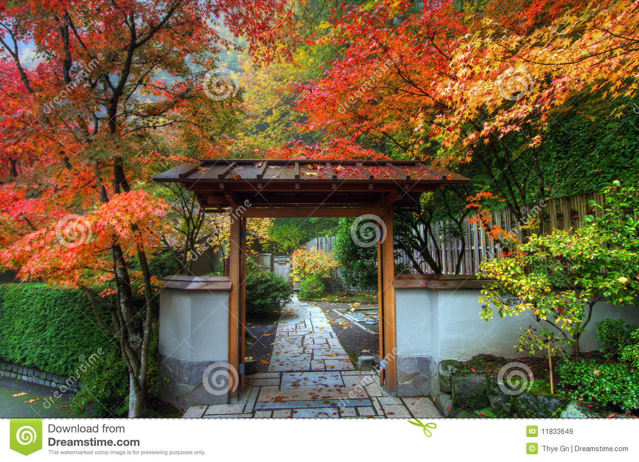 Entryway In Japanese Garden Stock Image Image Of