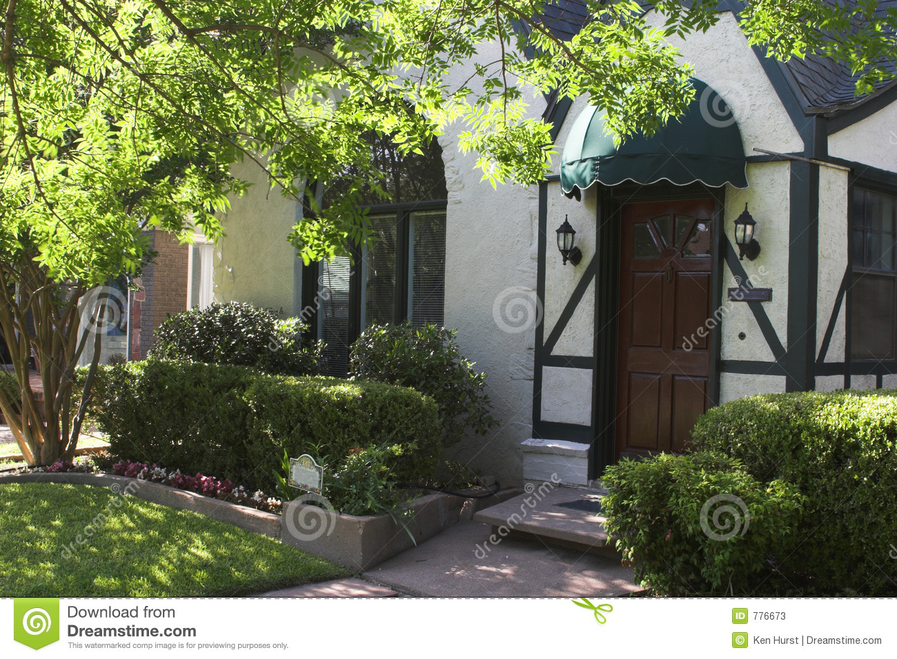 Entryway To Tudor Style House Stock Image Image Of