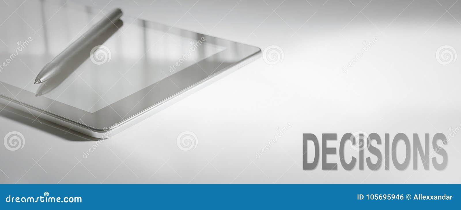 ENTSCHEIDUNGEN Geschäfts-Konzept-Digitaltechnik