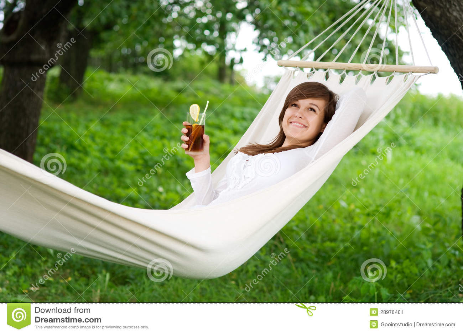 Entspannung auf Hängematte