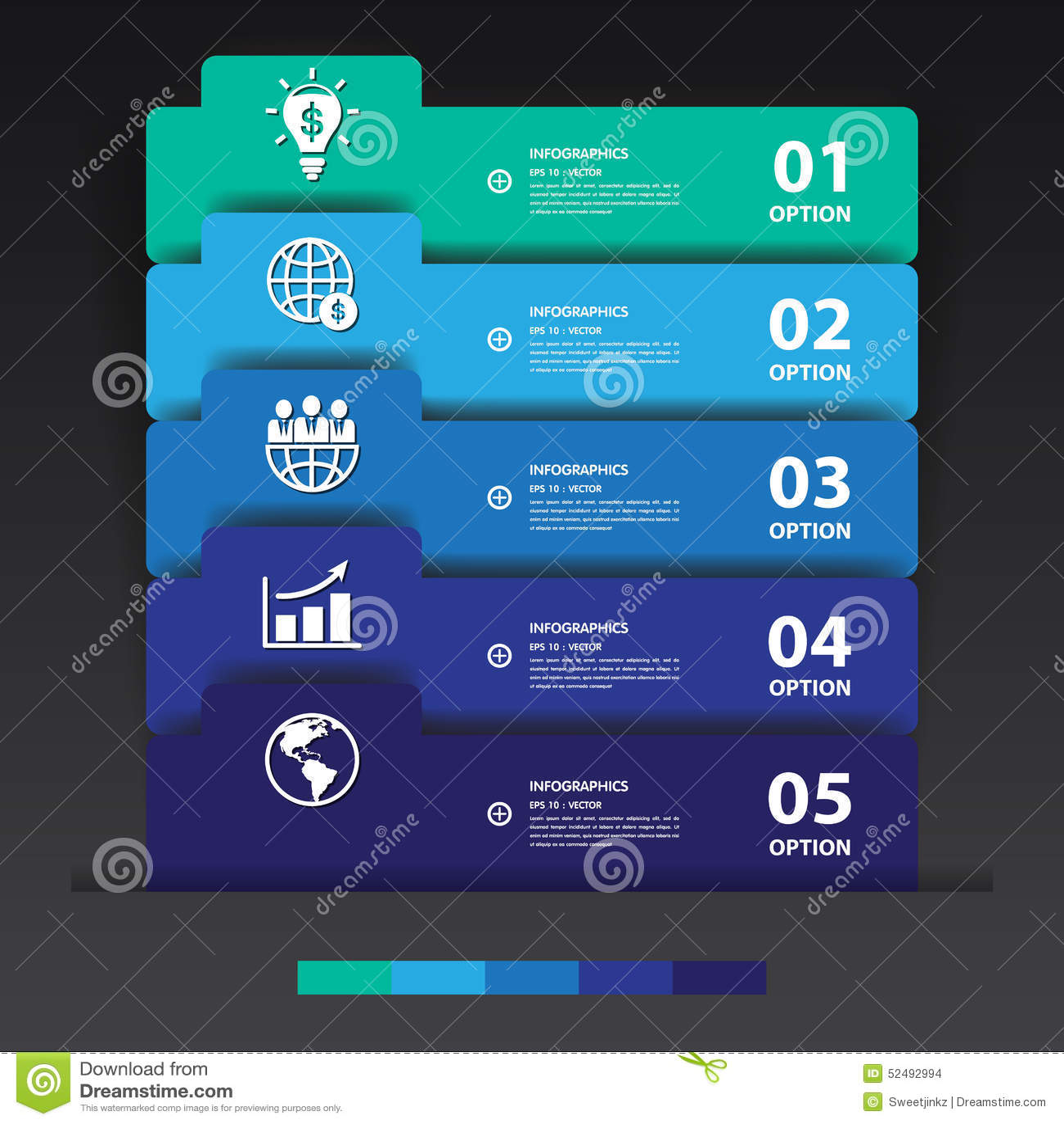 Entwerfen Sie Mehrfarbenzahlfahnenschablone/-graphik oder -website VE