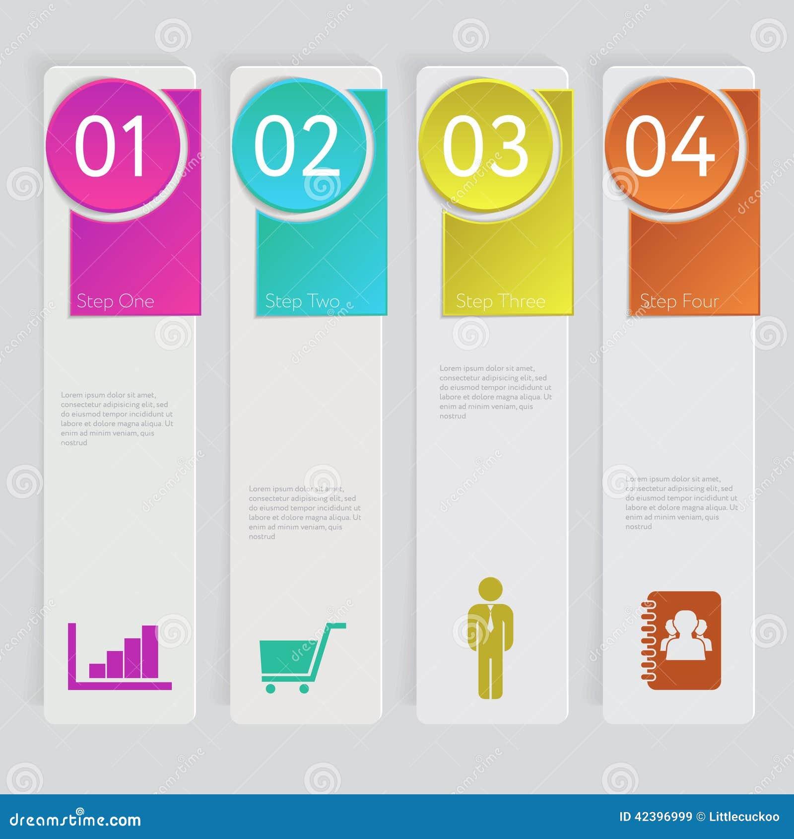 Entwerfen Sie Zahlfahnen-Schablonengraphik oder Websiteplan