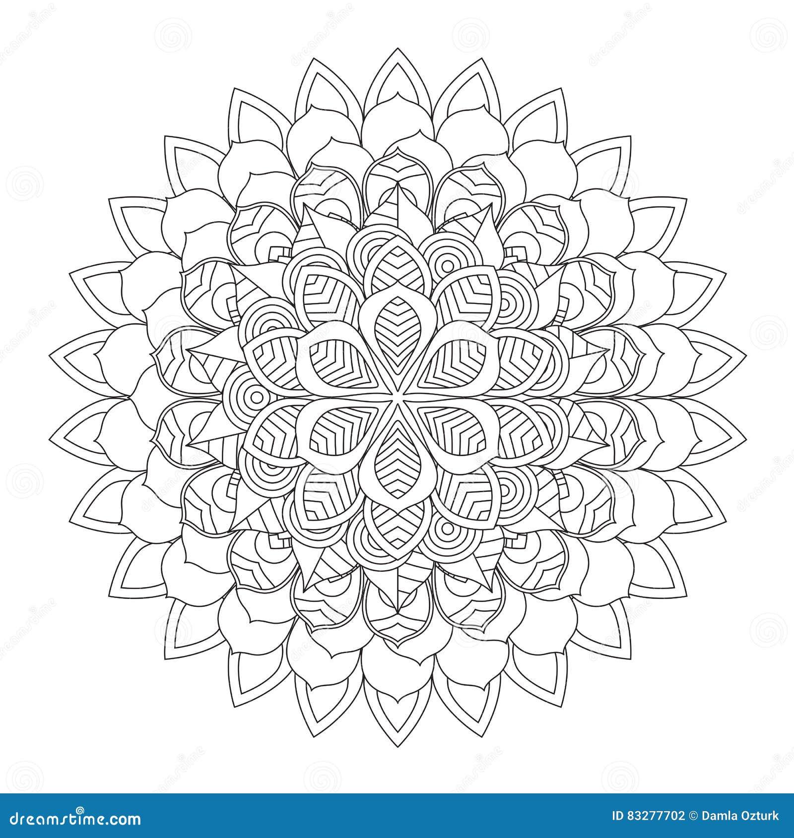 Entwurfs-Mandala Für Malbuch Dekorative Runde Verzierung Vektor ...