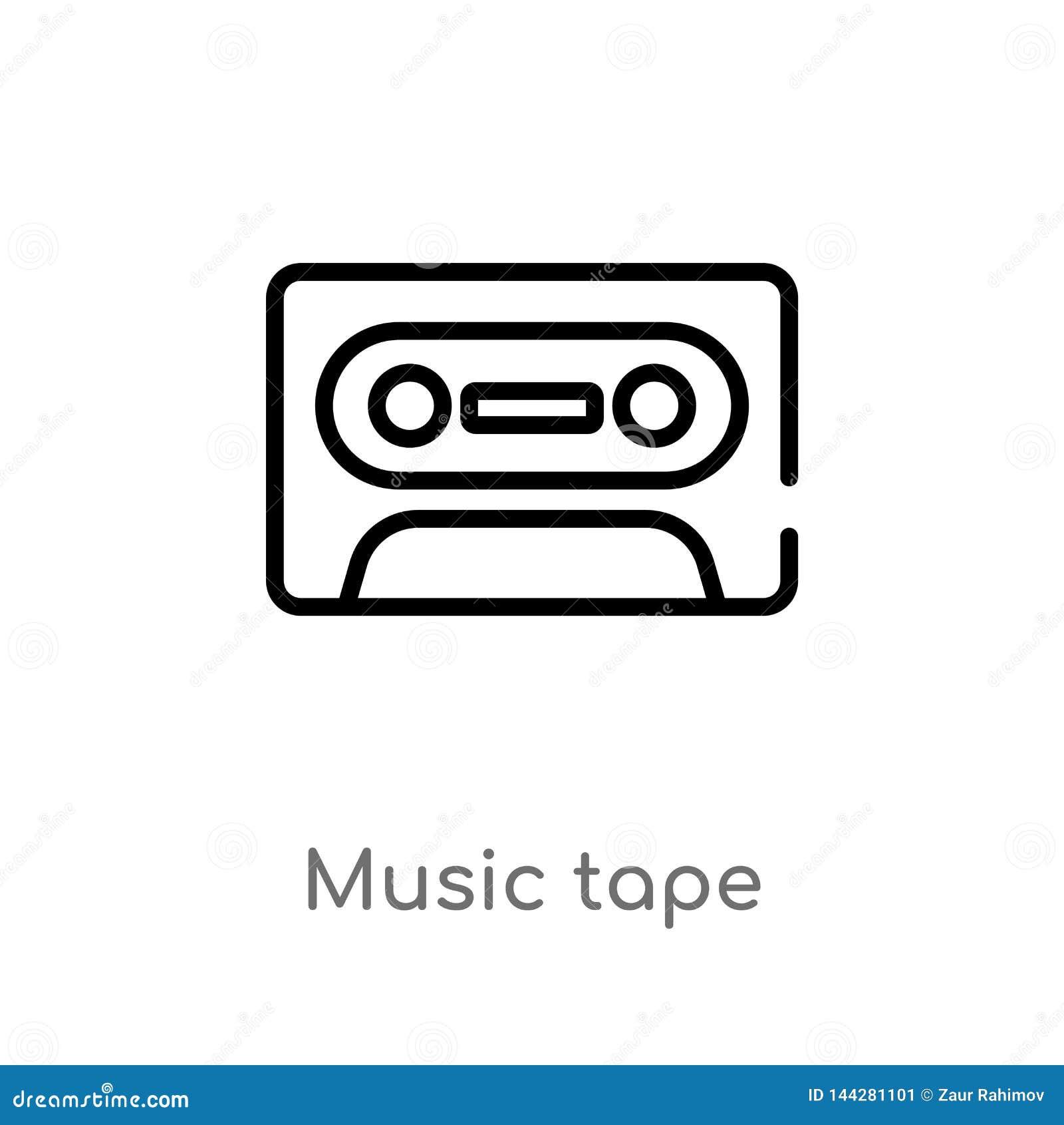 Entwurfsmusikband-Vektorikone lokalisiertes schwarzes einfaches Linienelementillustration von der Unterhaltung und vom S?ulengang