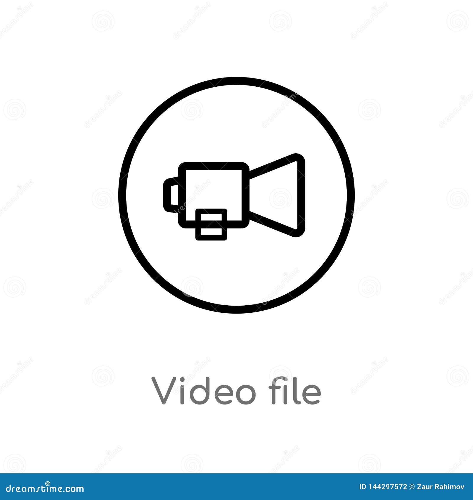 Entwurfsvideodatei-Vektorikone lokalisiertes schwarzes einfaches Linienelementillustration vom Benutzerschnittstellenkonzept Edit