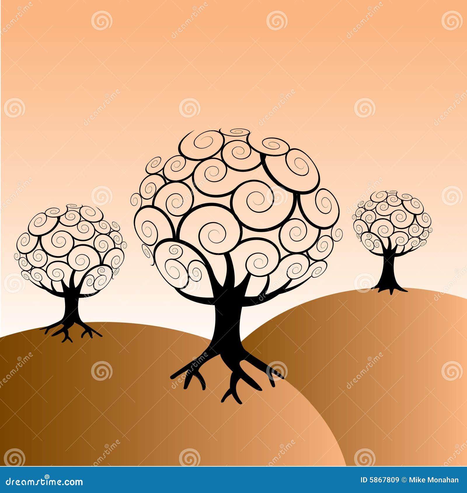 Entziehen Sie Baum-Hintergrund