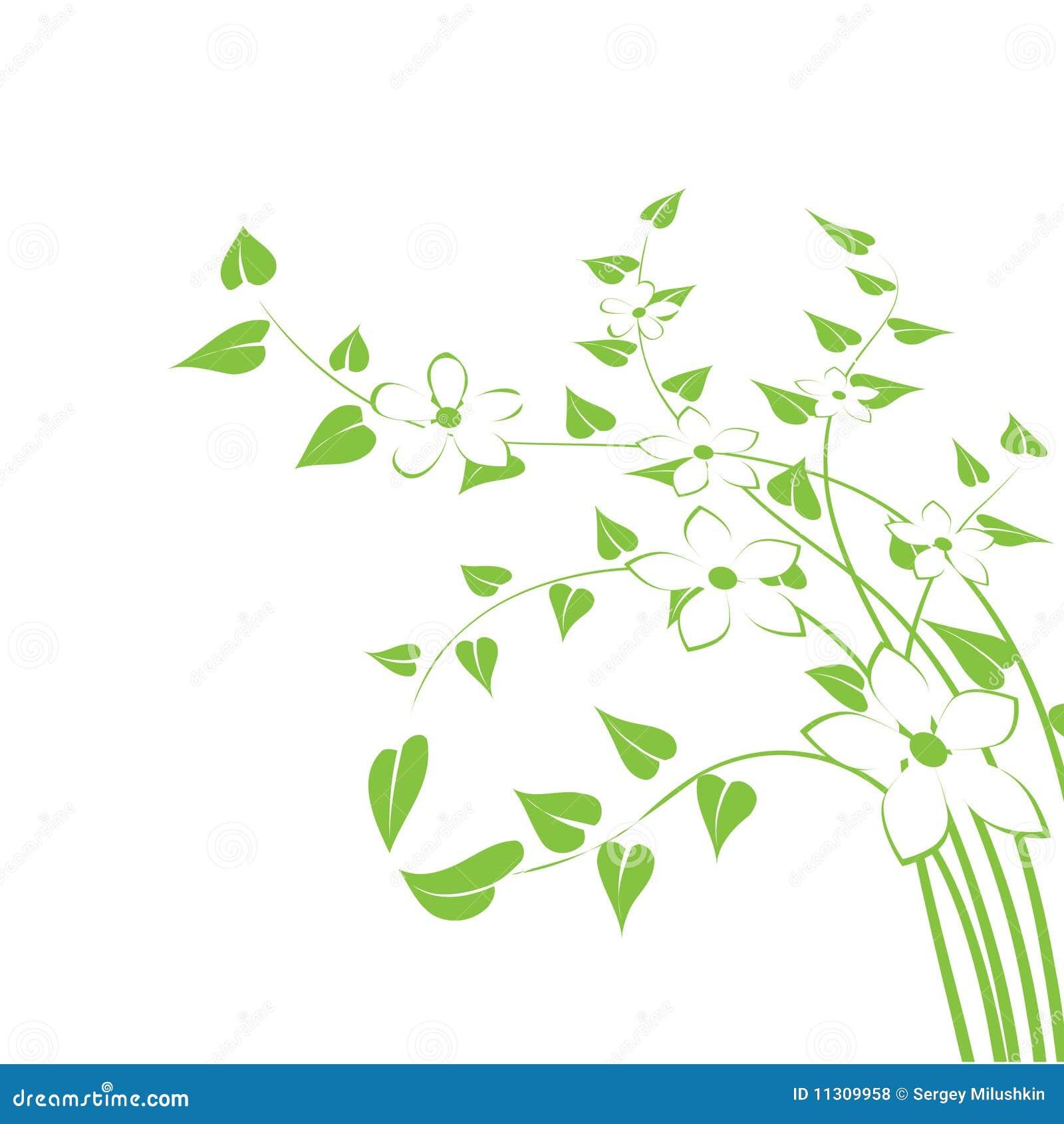Entziehen Sie Blumenhintergrund