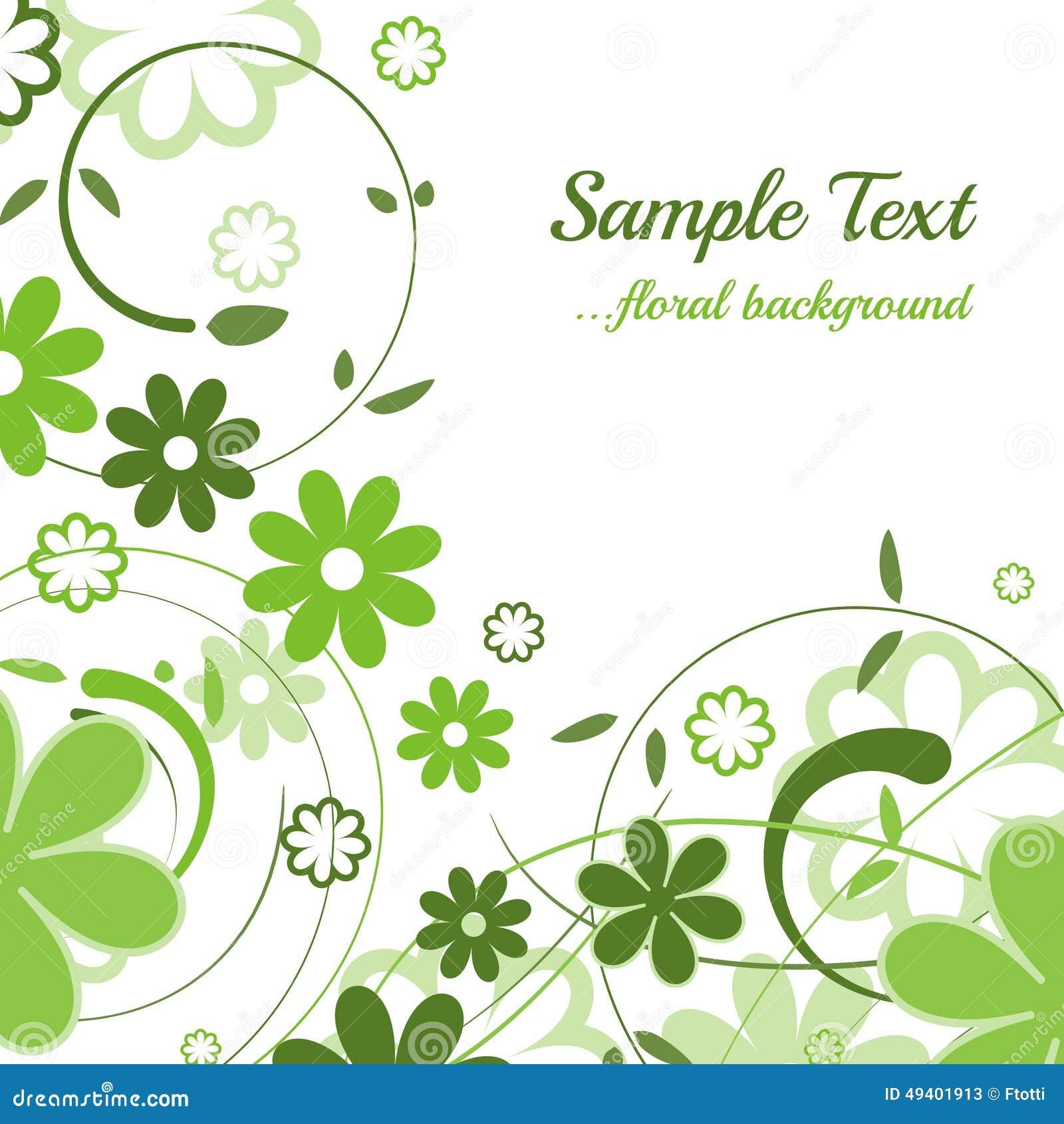 Download Entziehen Sie Blumenhintergrund Vektor Abbildung - Illustration von blatt, dekoration: 49401913