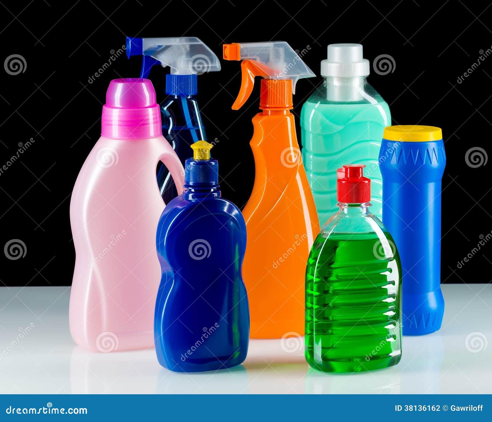 Envase de pl stico del producto de limpieza para la casa for Productos de limpieza