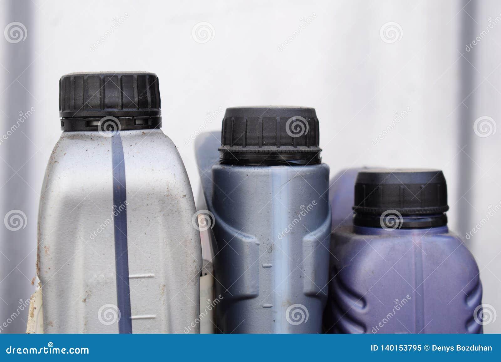 Envase de plástico para el aceite de motor, piezas del coche