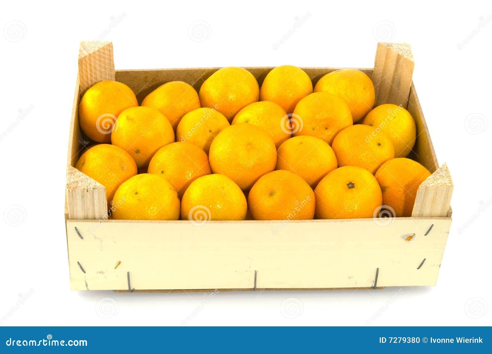 Envase llenado de los mandarines