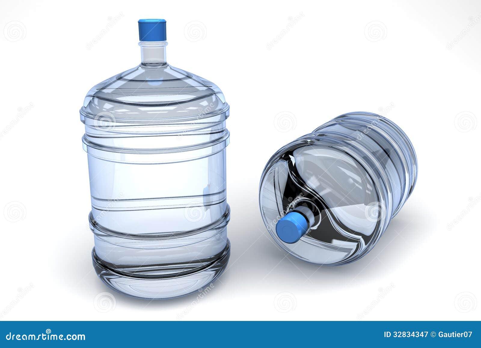 Envases del agua potable fotograf a de archivo libre de for Agua potable