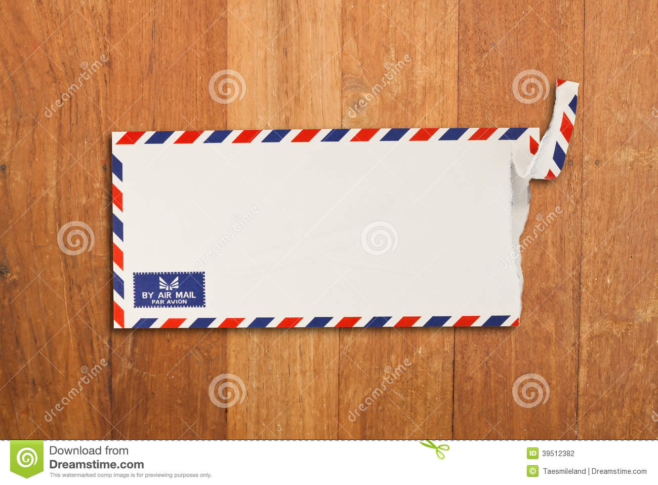 Envelope by air mail