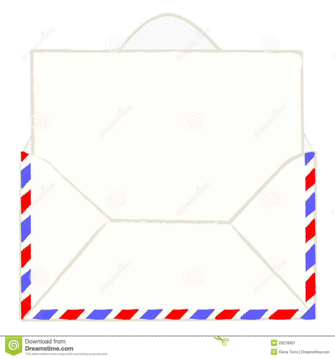 Envelope With Blank Letter Stock Vector Illustration Of