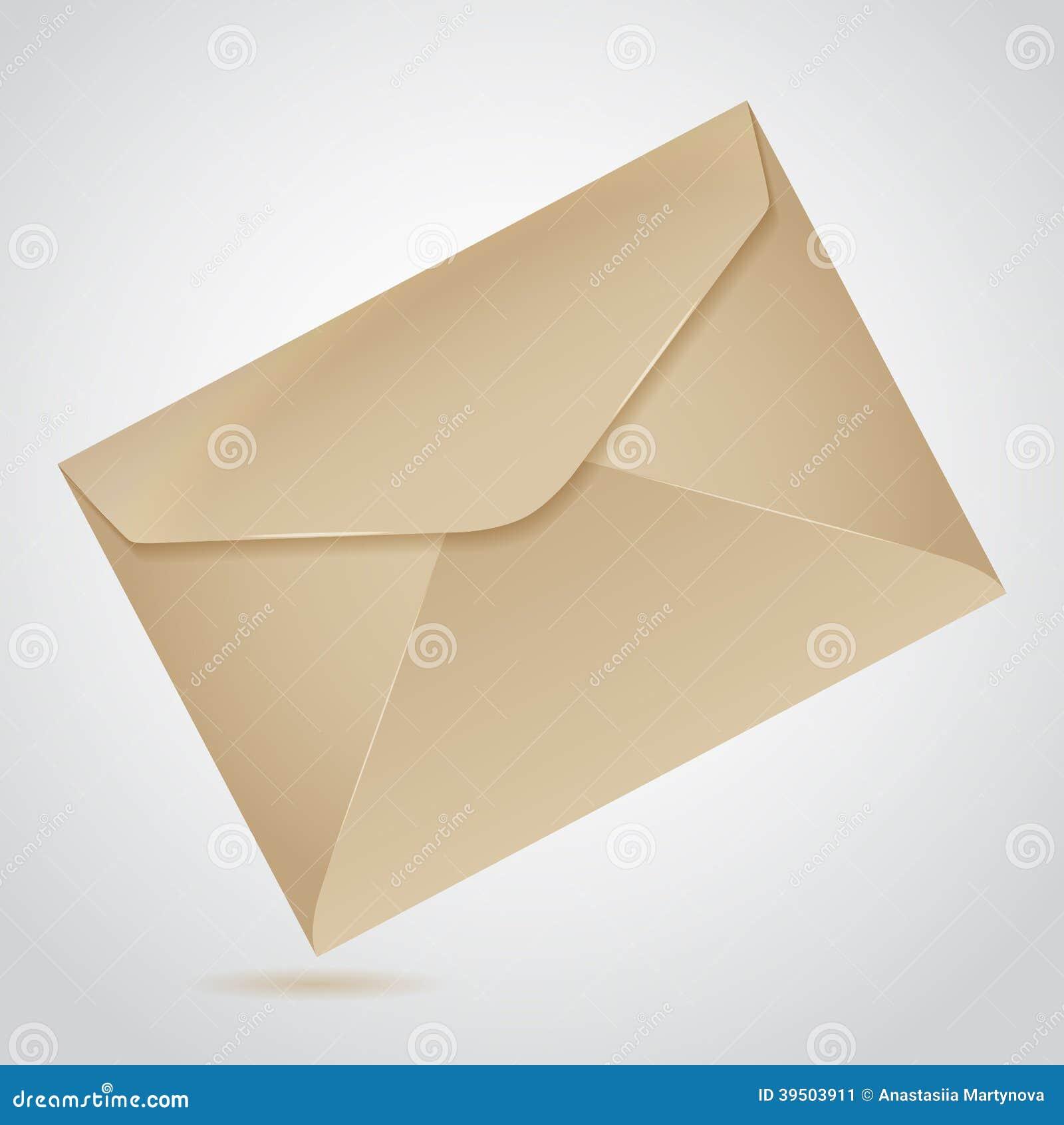 Envelope of brown paper