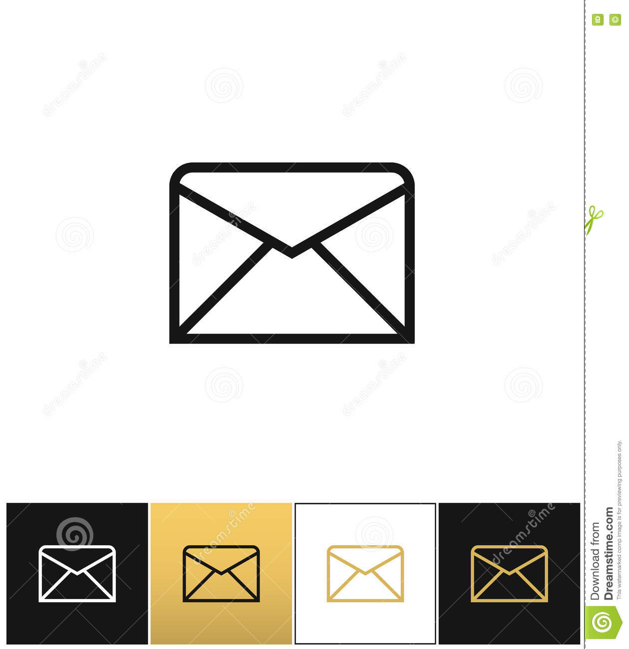 envelope business letter or email line vector icon stock vector
