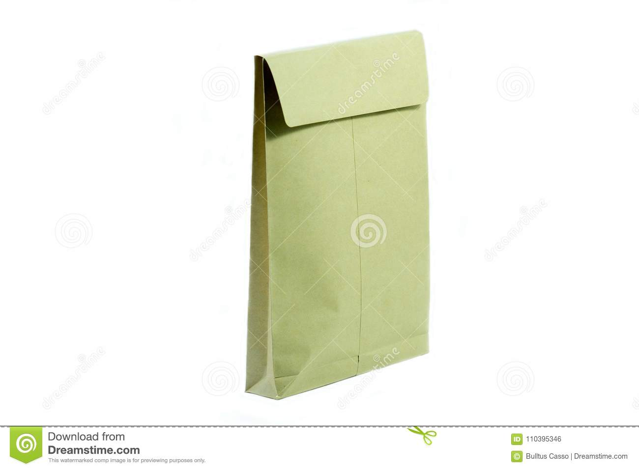 Envelope de Brown para o original no branco isolado