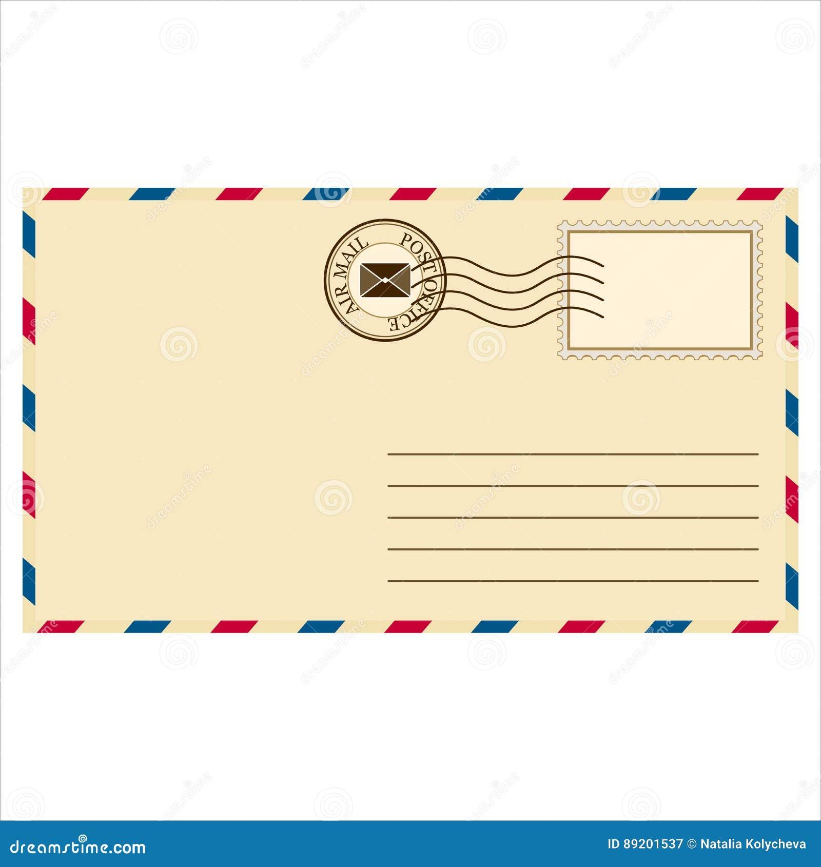 Envelope de envio pelo correio