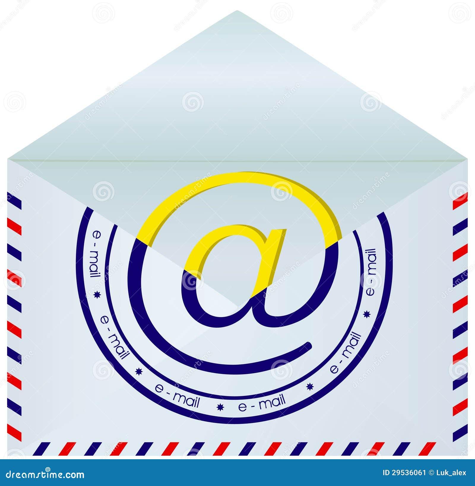 Envelope do correio aberto.