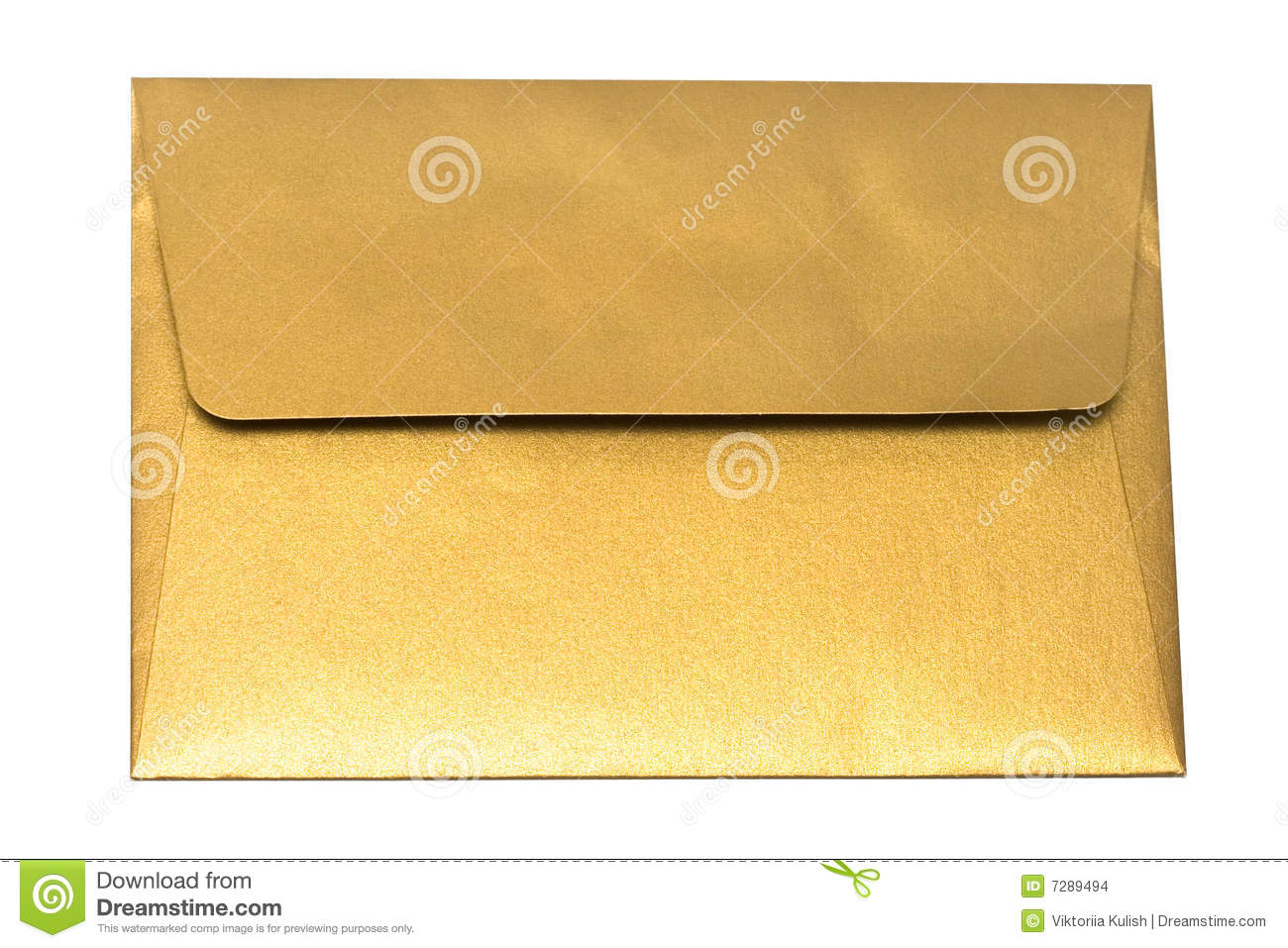 Envelope do ouro isolado