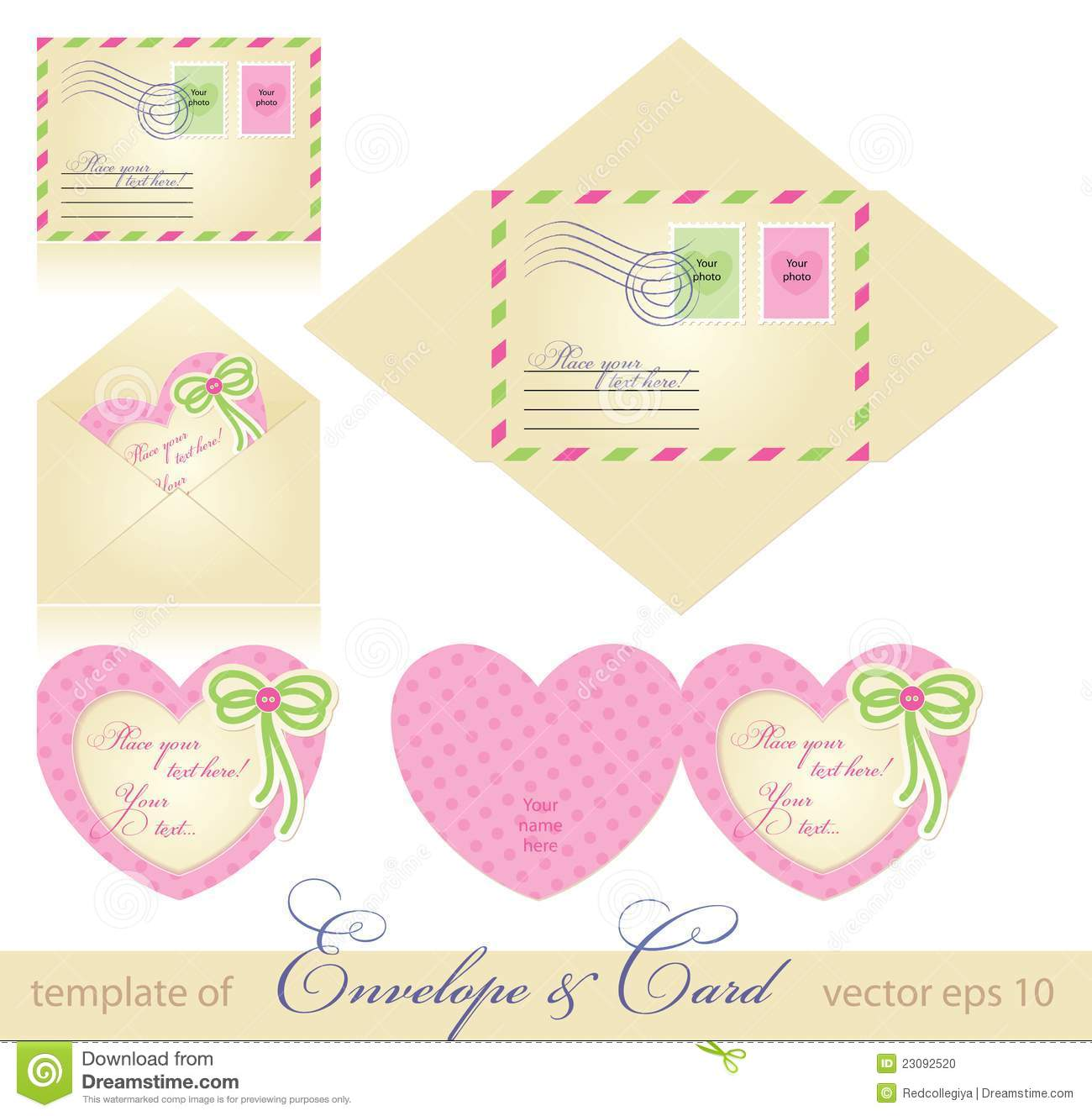 Envelope And Greeting Card Stock Photo