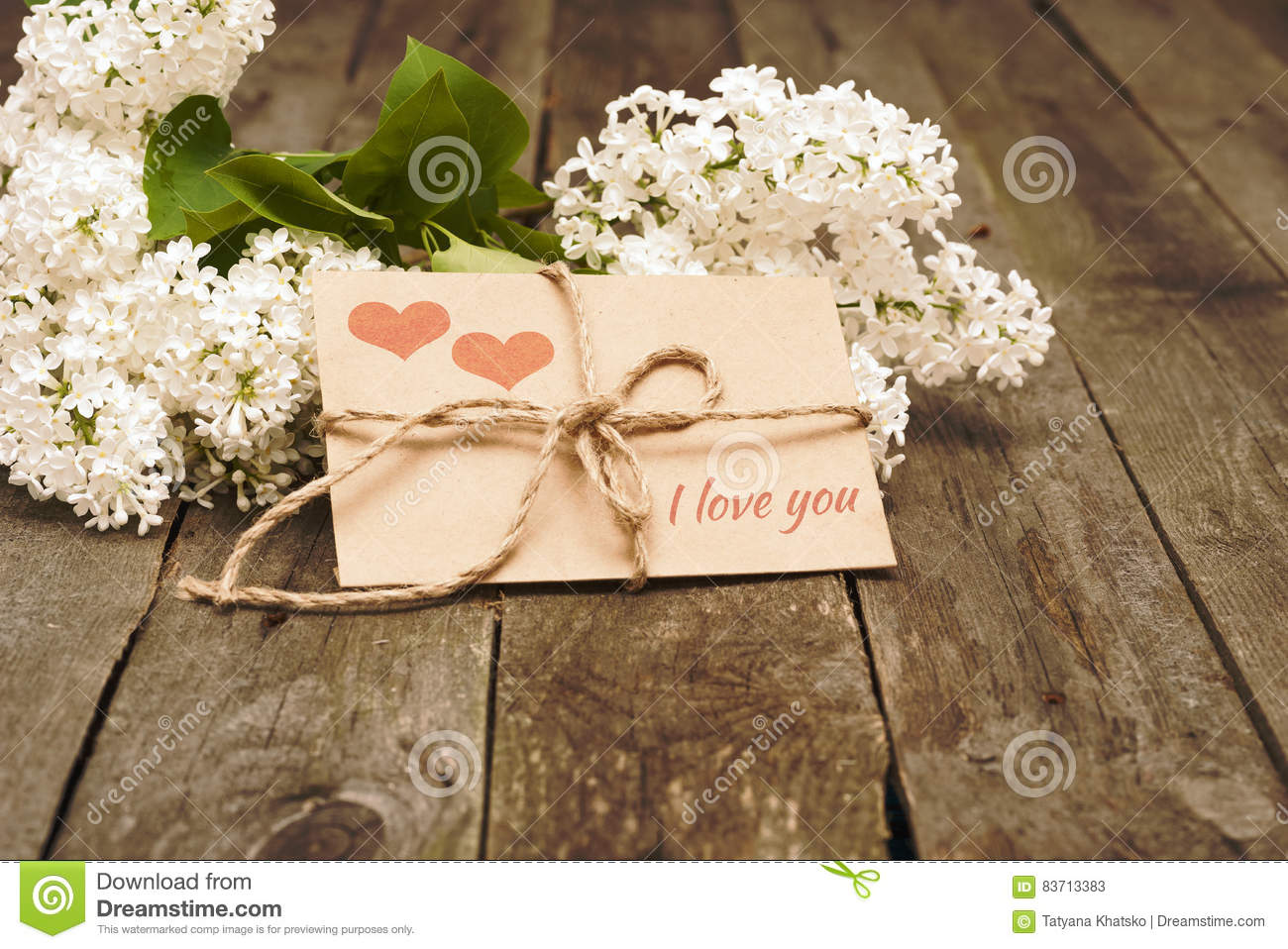 Envelope With Hearts And Words I Love You Stock Photo