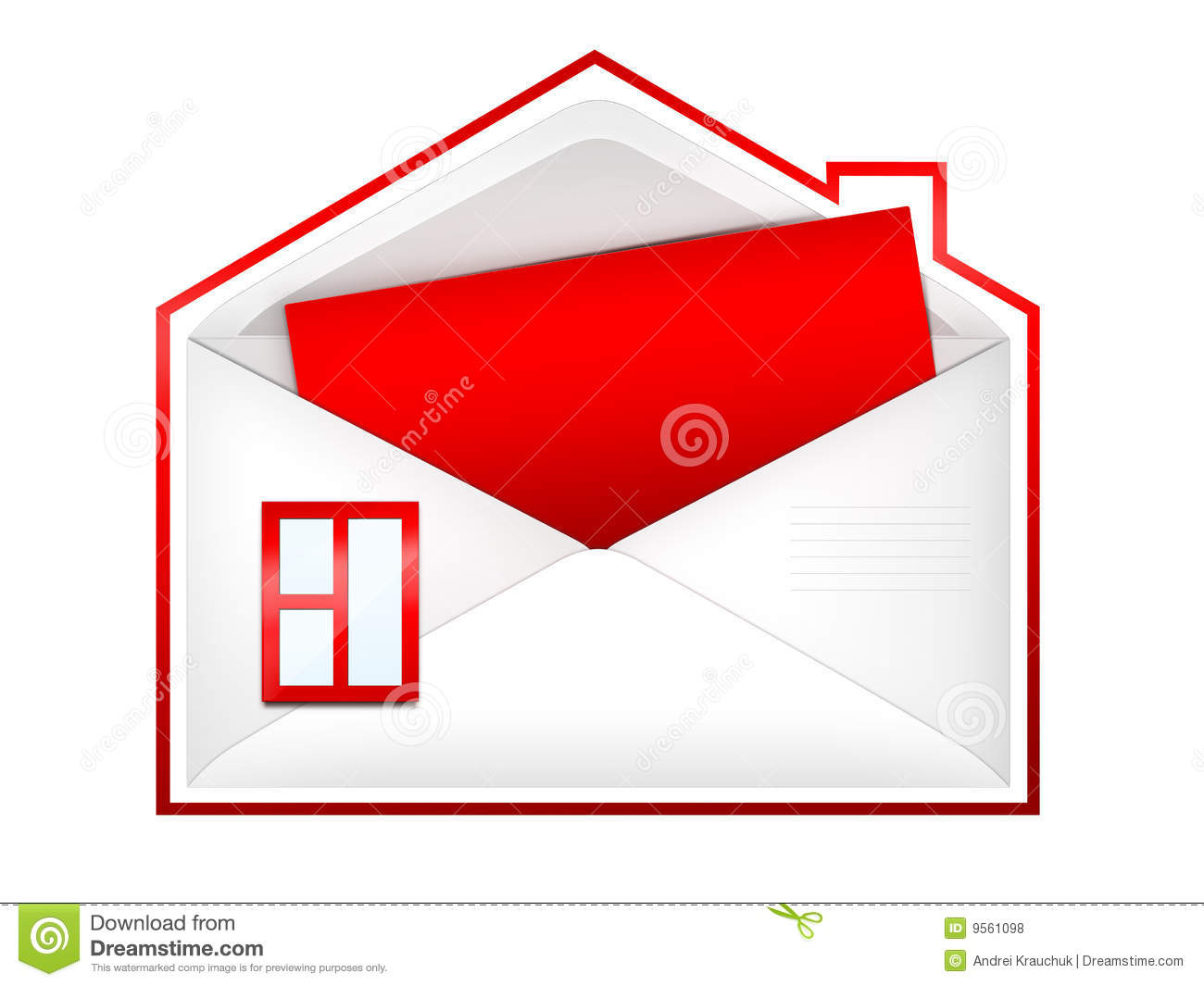 Envelope house royalty free stock photos image 9561098 for Envelope house