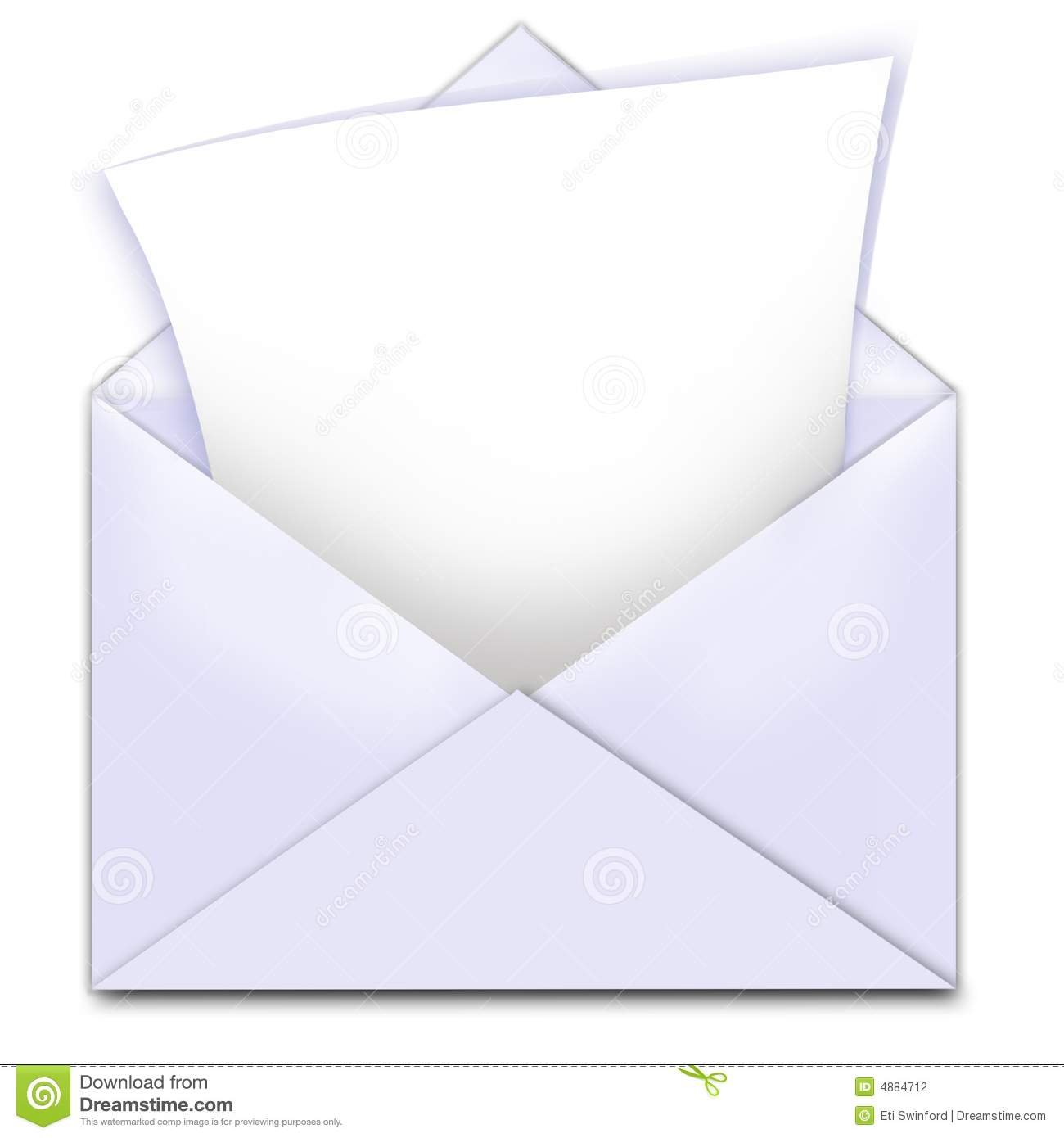 envelope letter copy space stock illustration illustration of