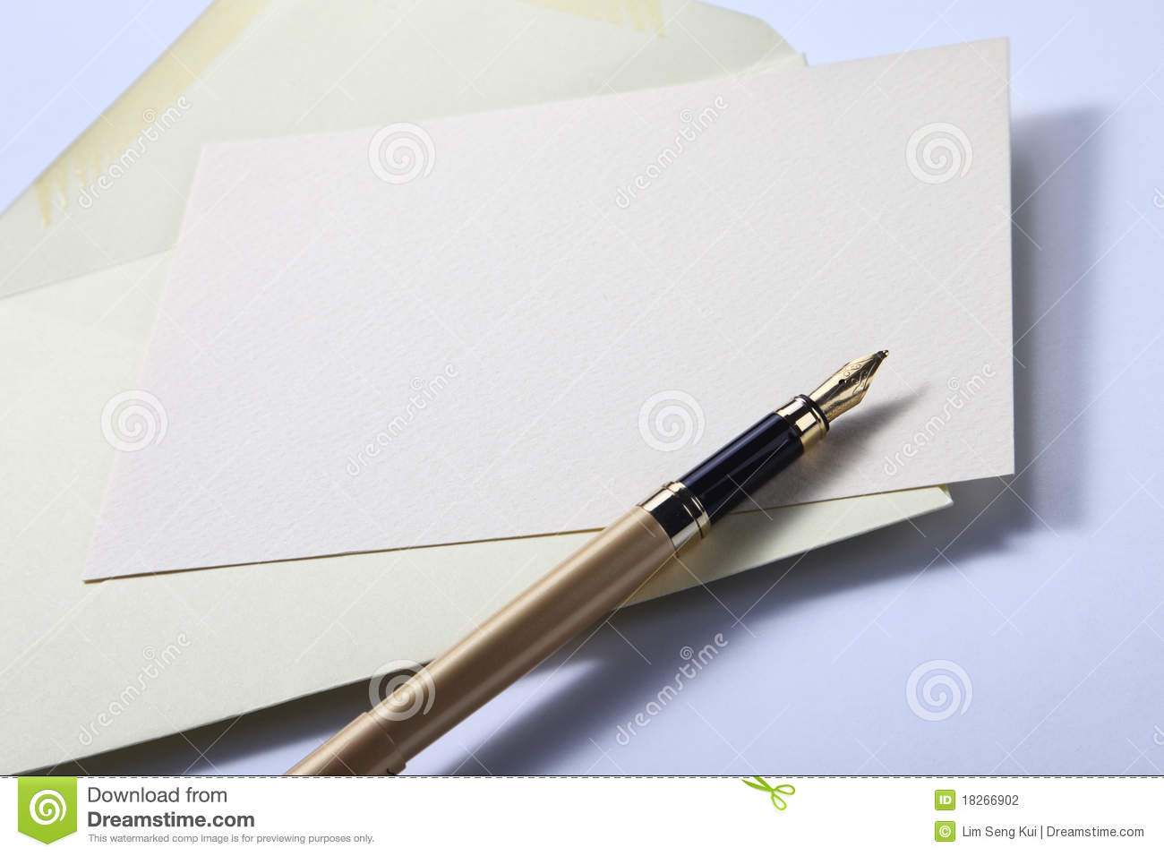 envelope letter and pen stock photo image of communication 18266902
