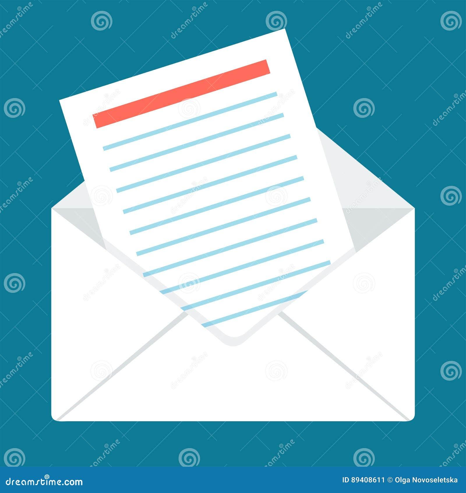 Envelope liso no azul