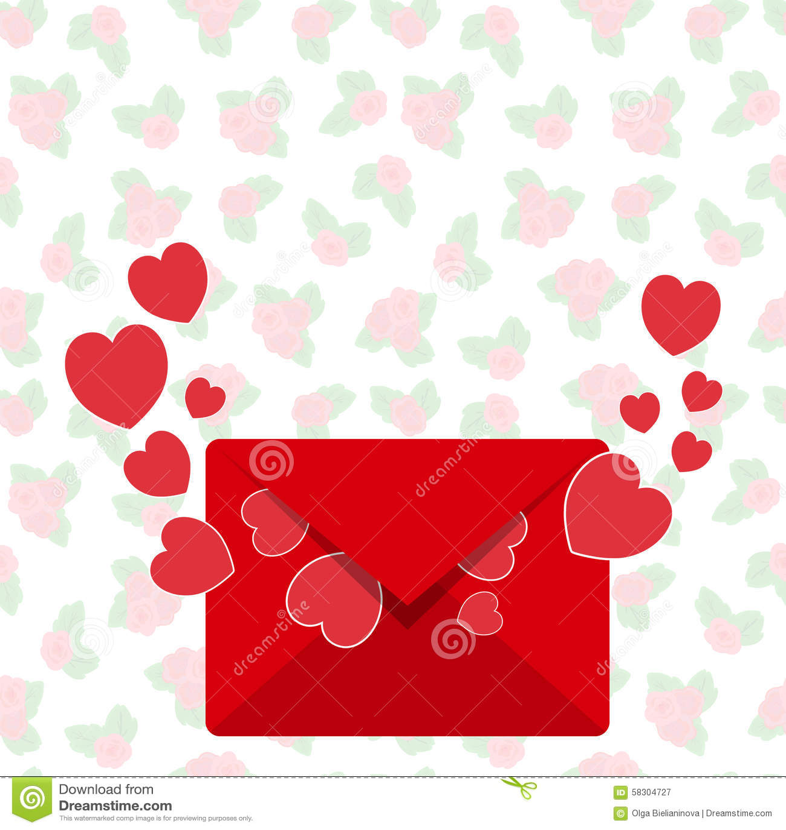 Image Gallery love letter envelope
